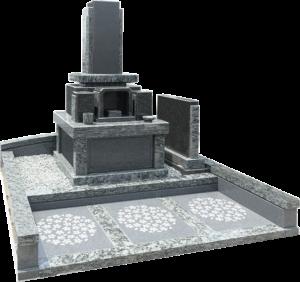洋墓(黒御影石+オリーブグリーン+M-10)