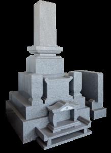 尺寸四重台角布団付先祖墓