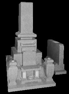九寸角丸布団付先祖墓