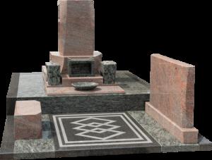 洋墓(M-10+オリーブグリーン+マルチカラーレッド)
