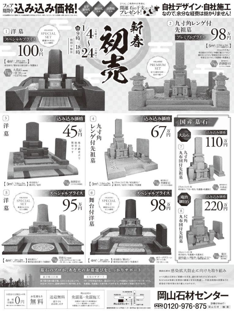 2021年1月4日初売り山陽新聞掲載